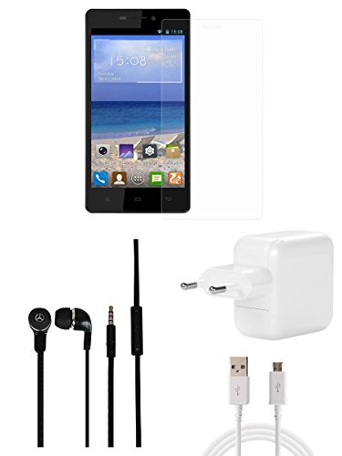 CELLMATE Tempered Glass Screen Guard Screen Protector, Headphone, 2Amp Fast Charger Combo for Gionee M3  available at amazon for Rs.499