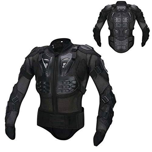 HAOHOAWU Motorrad Motorrad Full Body Armor Protector, Motorrad Körperschutzjacke ATV Guard Shirt Wirbelsäule Protector Guard Jacke,Black,S - Diamant-motorrad-shirt
