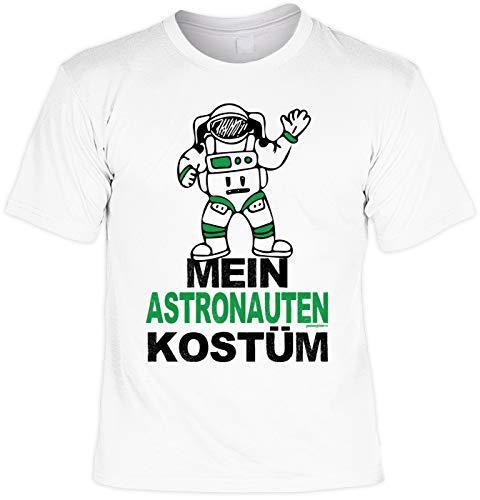 Veri Astronauten Kostüm Herren T-Shirt Karneval schnelle Verkleidung Fasching Print Party Artikel Weiss Gr: 5XL ()