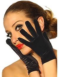 Kurze Handschuhe aus hochwertigem Samt A11785-1