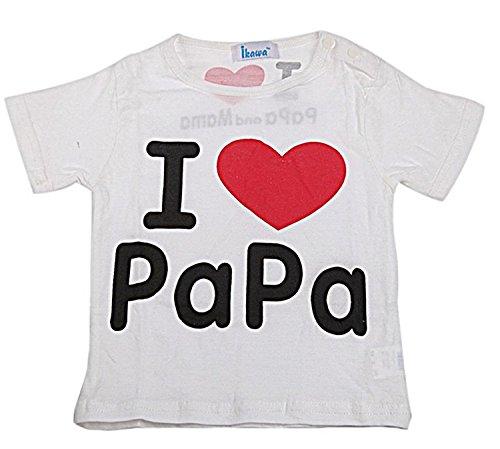 Piccoli monelli t-shirt bambino bambina i love papà size 9 mesi colore bianco cm 95