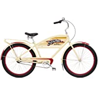 Electra Courier Tank Men's Urban Bike - Khaki/Red, 26 Inch