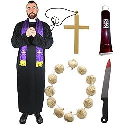 ILOVEFANCYDRESS Disfraz de cura cazavampiros para hombre (talla S - XXL)