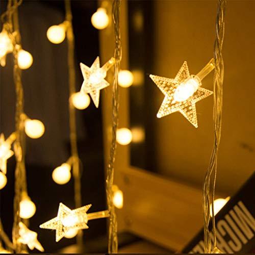 LDD-cld LED-Vorhang-Licht Fensterheber-Fee-Licht mit 8 Modi Wasserdicht, verwendet für Outdoor Indoor Hochzeit Garten Schlafzimmer Dekoration (warmes Weiß) 10m