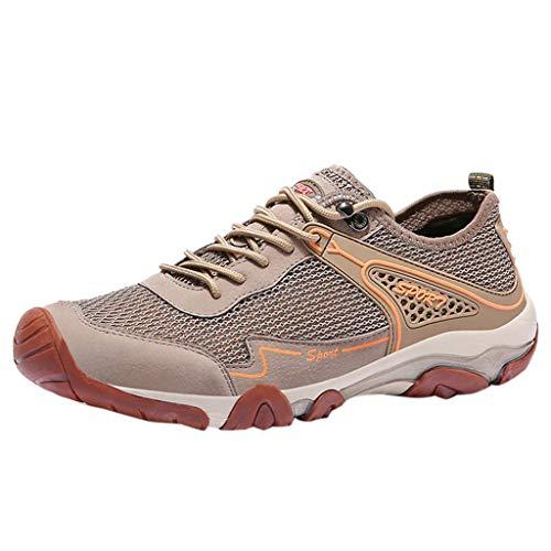 LILIHOT Herren Outdoor Mesh Casual Sport Hohl Schuhe Atmungsaktiv Bergsteigen Turnschuhe Leicht Sportlich Trekking Wanderhalbschuhe Mesh Schutzschuhe Hiking Schuhe -