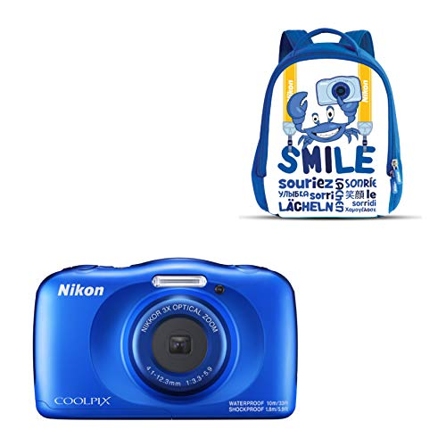 "Nikon COOLPIX W150 Kit Cámara compacta 13,2 MP CMOS 4160 x 3120 Pixeles 1/3.1"" Azul - Cámara Digital (13,2 MP, 4160 x 3120 Pixeles, CMOS, 3X, Full HD, Azul)"