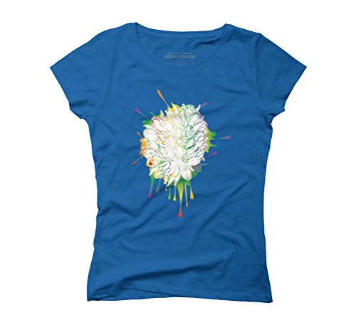 Colorful tulips sketch Women's Graphic T-Shirt - Design By Humans Royal Blue