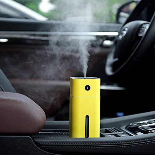 ONXE Mini-Auto-Luftbefeuchter mit 7 Farben Nachtlicht für Reisen, Schreibtisch, Zimmer, Büro, 1 Jahr Garantie gelb
