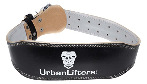 Urban Lifters - Leather Weight Lifting Belt Durability with a Thickness of 10,16 cm and a Brass Buckle Thick Dead Lifting and Squats (small (23 '- 31')