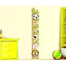 ufengke® Cartone Animato Gatto Leone Panda Adesivi Murali Con Metri (0-180 Cm), Camera dei Bambini Vivai Adesivi da Parete Removibili/Stickers Murali/Decorazione Murale - 0,25 Adesivo