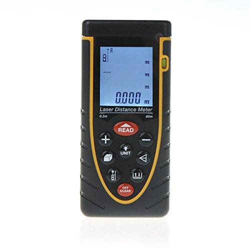 KKmoon 80metro Palmare Distanza Misuratore Laser Gamma Metro Telemetro Finder Bubble Level Tape Measure Precisione ±