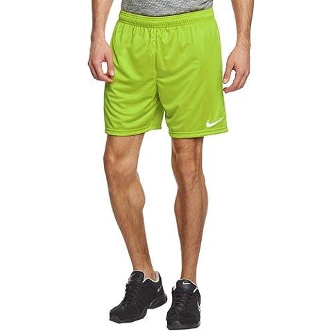 Nike Herren Shorts Park II Knit ohne Innenslip, Aktion Grün / Weiß, Gr. L, 448224-350