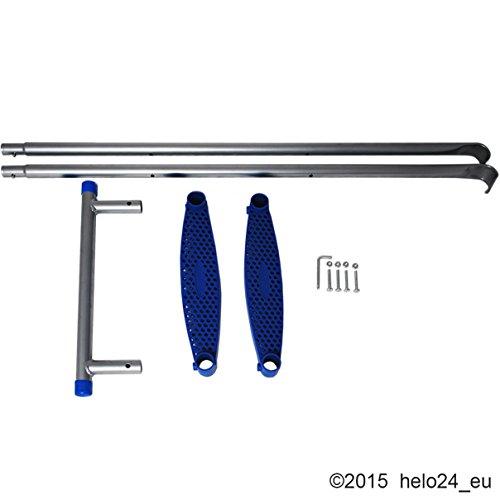 Einstiegsleiter für 430 cm Trampolin in blau - 2