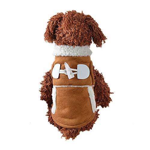 PZSSXDZW Pet Kleidung Lokomotivstil Teddy-Hundekleidung Hundekleid Hundekostüm Pet Kleidung Brown Small