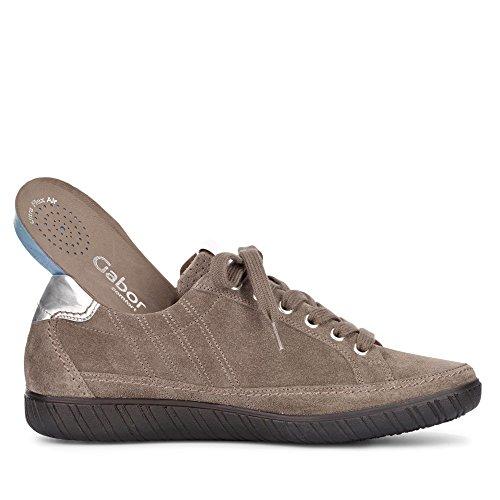 Femme Shoes Gabor U7cqwau Basic Comfort Suede Derbys Taupe FXfqzw