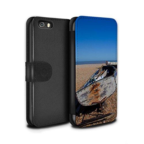 STUFF4 PU-Leder Hülle/Case/Tasche/Cover für Apple iPhone 5/5S / Pack 16pcs Muster / Britischen Küste Kollektion Altes Boot