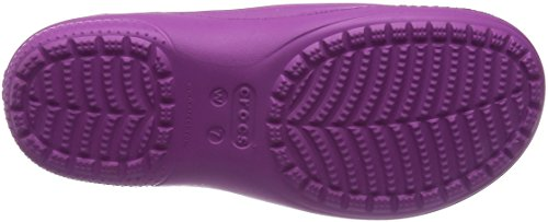 Crocs Crocs Freesail Lined Clog W, Zoccoli e sabot, Donna Bianco (Wild Orchid/Oatmeal)