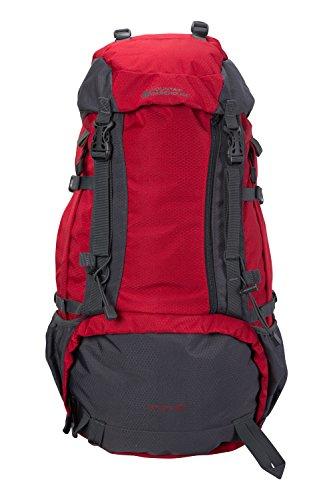 Mountain Warehouse Venture 40-l-Rucksack - Kompressionsriemen, hydratationskompatibel, Regenschutzhülle, Taschen, Damen/Herren - für Reisen, Festivals Rot