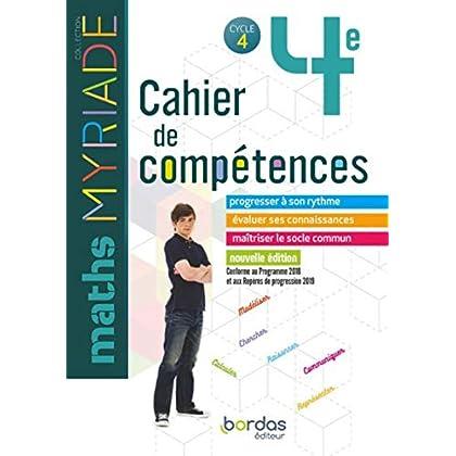 Myriade - Cahier de compétences - Mathématiques 4e