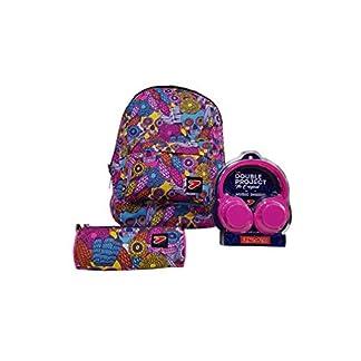 Mochila Reversible The Double Seven, Colores Surtidos, 29 l, 2 en 1 + capazo con Auriculares estéreo de Regalo para la Escuela y el Tiempo Libre, 40 x 30 x 20 cm.