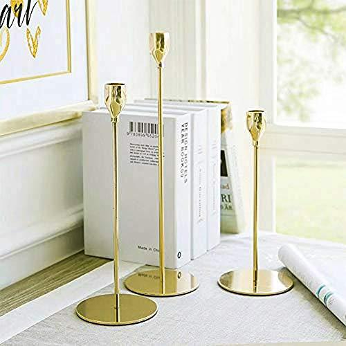 Wedecor Leuchter verjüngen Kegelhalter Kerzenständer Mittelstücke Kernstück Tabelle Hochzeit Kerze Stand (Gold, 3 Stück/Satz)