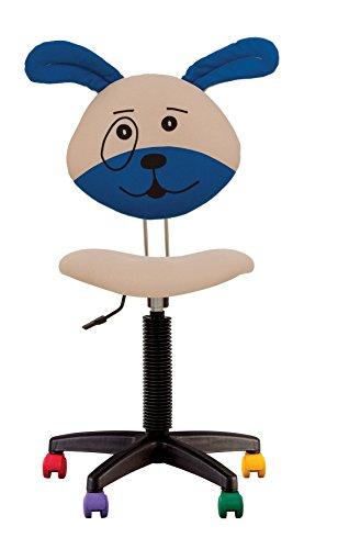 Joy - silla de escritorio infantil ergonómico de altura con respaldo ajustable profundidad de asiento ajustable ruedas multicolores. (PERRO)
