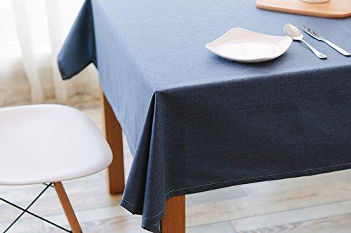 Ommda Tischdecke Leinen Abwaschbar Tischwäsche Wasserabweisend Lang Rechteckig Pflegeleicht 120x180cm Blau