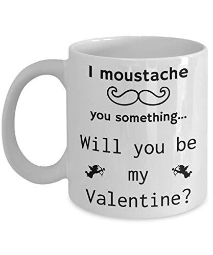 Andrea1Oliver Valentinsgru?-Wortspiel-Schnurrbart Sie etwas Kaffeetasse-Geschenk-wei?e keramische Schale