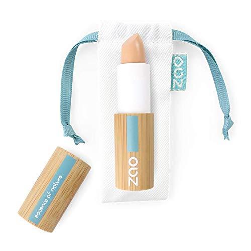 ZAO Concealer 494 dunkel-beige Abdeckstift, Cover Stick, Korrektor, in nachfüllbarer Bambus-Dose (bio, Ecocert, Cosmebio, Naturkosmetik)