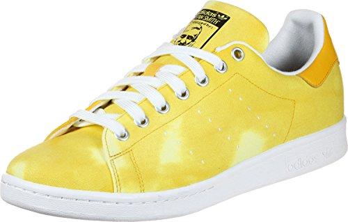 adidas PW HU Holi Stan Smith, Scarpe da Ginnastica Basse Uomo Bianco (Footwear White/footwear White/yellow 0)
