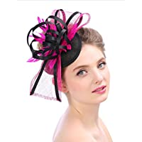 Lh$Yu Frauen Hochzeit Party Cap Royal Vintage Hut Derby Stirnband Bowknot Und Eine Gegabelte Clip Tea Party Headwear Mädchen Stirnband