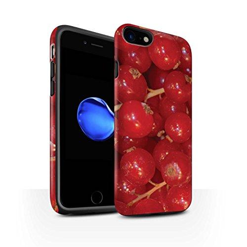 STUFF4 Matte Harten Stoßfest Hülle / Case für Apple iPhone 8 / Wassermelone Muster / Saftige Frucht Kollektion Rote Johannisbeere
