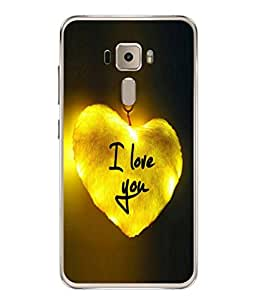 Fuson Designer Back Case Cover for Asus Zenfone 3 ZE552KL (5 Inches) (Love heart Girl Valentine Three Hearts)