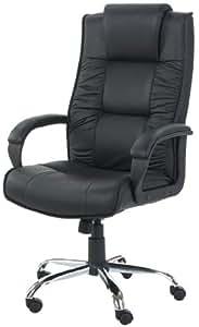 easychair warschau xxl fauteuil de bureau cuir noir cuisine maison. Black Bedroom Furniture Sets. Home Design Ideas