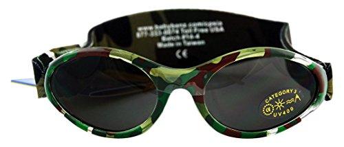 Baby Banz 00356 Sonnenbrille mit elastischem Neoprenband, für Kopfumfang 40-52 cm (circa bis 2 jahre), UV400, grün