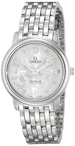 Omega donna-Orologio da polso al quarzo in acciaio inox 42410276052001