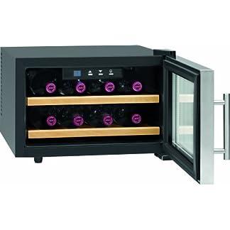 ProfiCook-PC-WC-1046-Weinkhlschrank-EEK-A-104-kWhJahr-Flaschenkapazitt-8–075-Liter-Bedienfeld-mit-LED-Display-inox