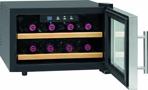 ProfiCook PC-WC 1046 Weinkühlschrank/EEK A+ / 104 kWh/Jahr/Flaschenkapazität: 8 á 0,75 Liter/Bedienfeld mit LED-Display/inox -
