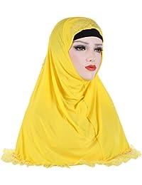 7c89d70ae3f843 Hijab pour Femmes Musulmanes Voilées Couvre-Chef Foulard Voile Turban  écharpe Châle Islamique Bonnet,