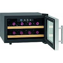 ProfiCook PC-WC 1046 - Enfriador de vino (Independiente, Negro, Acero inoxidable, Acero inoxidable, 16 - 32 °C, 23L, Nevera de vino termoeléctrico)