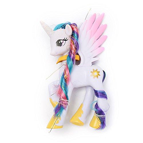 r Spielzeugfigur Sammelfigur Einhorn Puppe Handspielzeug Regenbogeneinhorn Fantasy Mädchen Kinderzimmer Dekoration Einhorn Plüsch Tiere Stofftier Figuren Weich My Little Pony (H04) ()