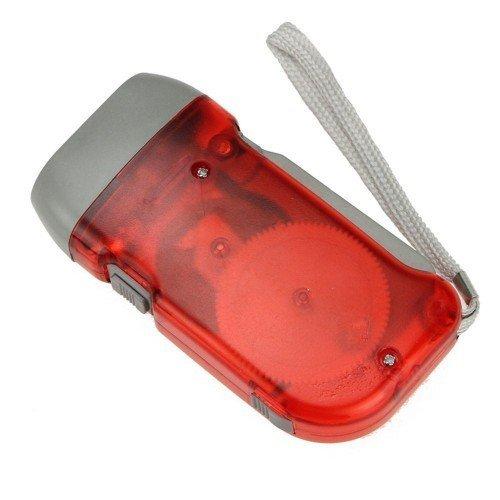 Home Care Wholesale Nabendynamo angetrieben LED Taschenlampe für Notfall, Camping, Startseite oder Auto (4 Stück)