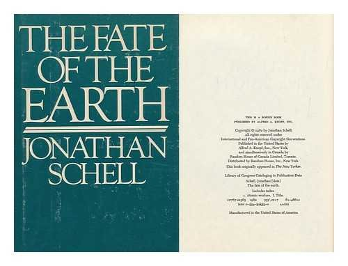 The Fate of the Earth por Jonathan Schell