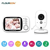 "FLOUREON Wireless Video Baby Monitor 2.4 GHz 3.2"" LCD Display Digital Security Camera"