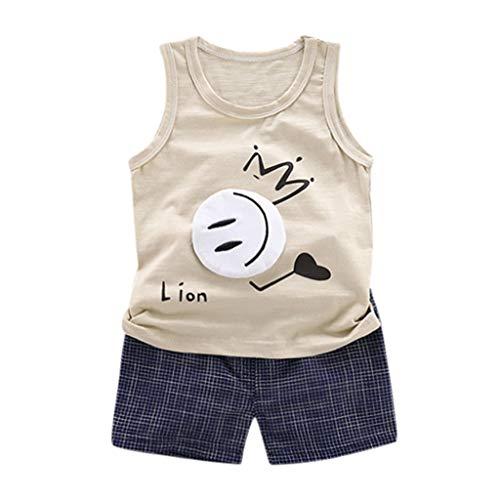 JERFER Kinder Outfit Set Junge Kleinkind-Karikatur-T-Shirt übersteigt Kurze Hosen 2pcs Kleidungs-Satz