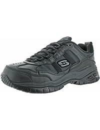 Skechers Work Men's On Site - Robson Black Leather/Black Mesh Sneaker 11 D (M)