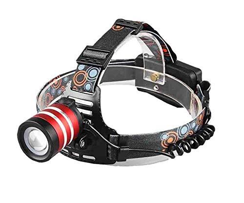 Torcia frontale ricaricabile t6 + led - super luminosa, impermeabile, leggera e confortevole - faro perfetto per correre, camminare, campeggio, leggere, escursionismo, bambini,green