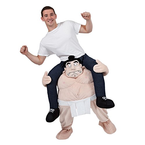 Wrestler Fancy Dress - CRAZY SUMO WRESTLER CARRY ME MASCOT