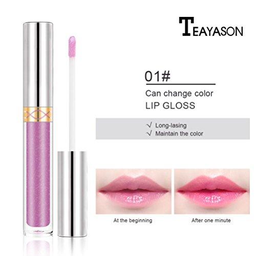 Feuchtigkeitsspendende Feuchtigkeitsspendende Lippenstift (gaddrt Neuer Lipgloss Color Changing Flower Shiny Beauty Lippenstift feuchtigkeitsspendende Langlebige (A))