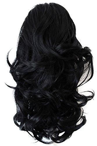 PRETTYSHOP Voluminöses Haarteil Hair Piece Pferdeschwanz Zopf Ponytail ca 35cm diverse Farben (schwarz H88_1)